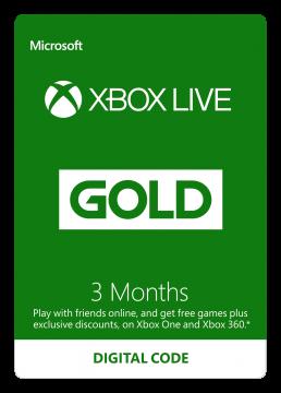 Carte XBOX Live 3 mois – Commande en ligne