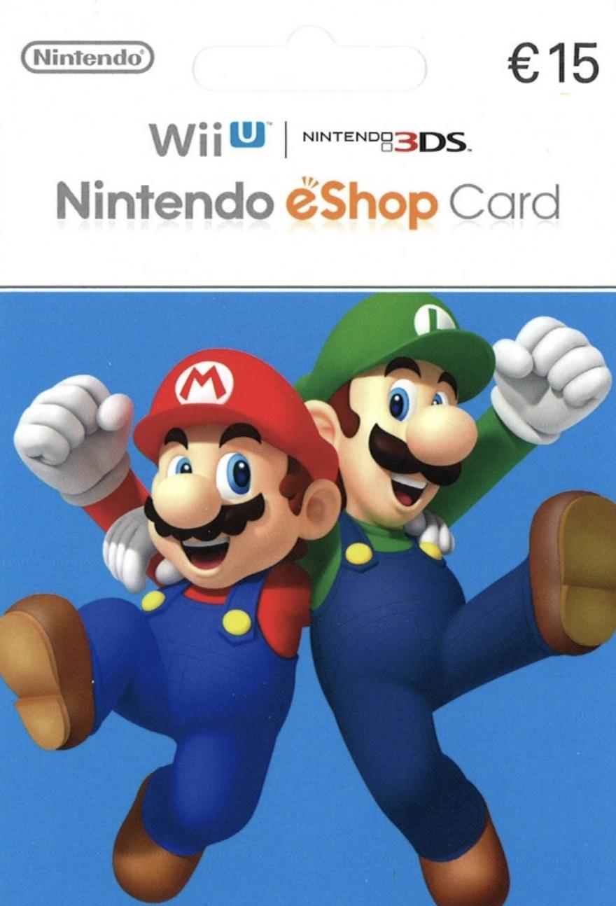 Carte Recharge Nintendo eshop 15€ – Commande en ligne