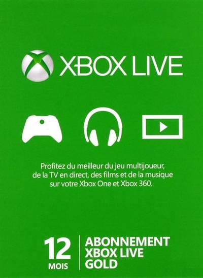 Carte XBOX Live 12 mois – Commande en ligne
