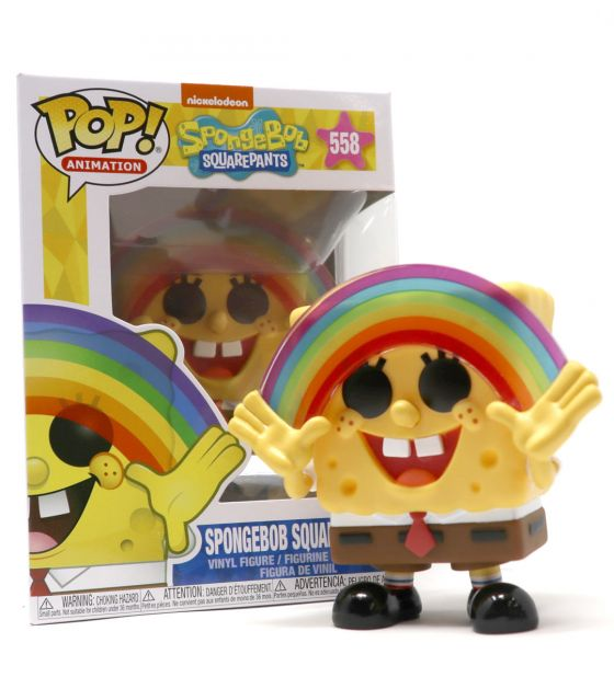 POP! SpongeBob Squarepants –  Bob L'éponge Carrée ARC EN CIEL – N°558 – OCCASION