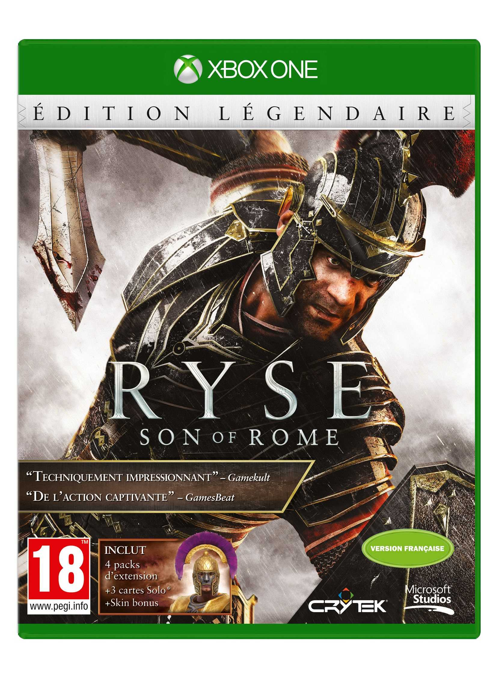 Ryse : Son of Rome Legendary Edition – Xbox One – OCCASION