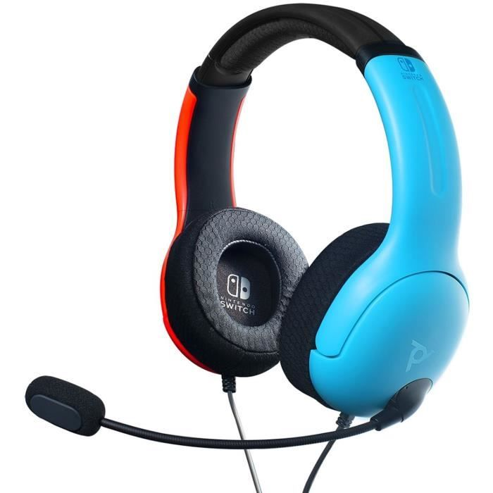 Official Nintendo Wired Headset LVL40 Switch Blue / Red