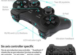 Lioeo Manette PS3 sans Fil Manette PS3 pour Playstation 3 Bluetooth Compatible